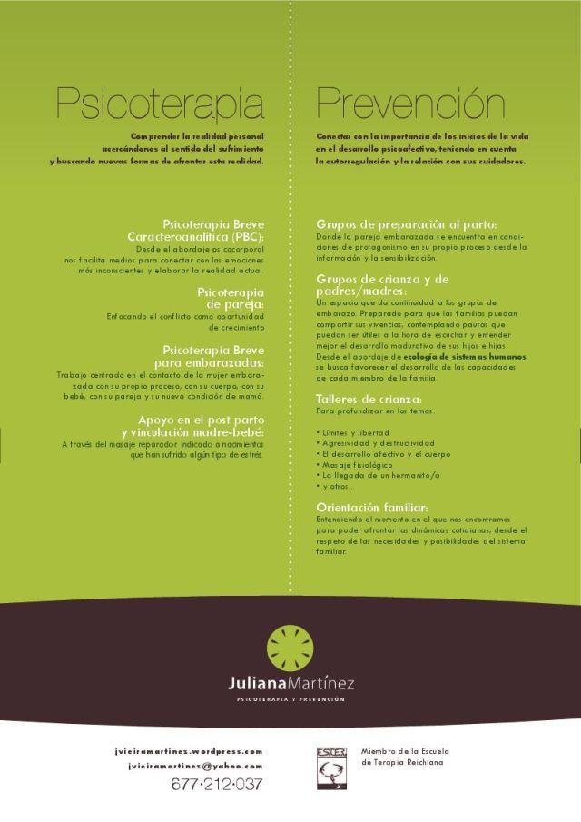 Mis actividades en psicoterapia y prevención, en Barcelona, Migjorn (Sant Vicenç de Castellet) y Vilafranca del Penedés